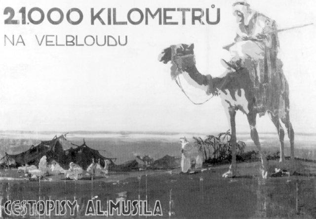 Plakát propagující knihy Aloise Musila.