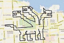 Obrazy vytvořené pomocí GPS