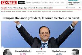 Sarkozy neuspěl, novým prezidentem Francie je socialista Hollande