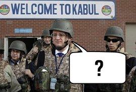 Afghánistán Nečasovi nesvědčí. O čem asi premiér přemýšlel v momentu, kdy vznikl tento snímek?