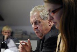 Miloš Zeman v redakci Reflexu odpovídal na otázky čtenářů.