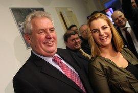 Miloš Zeman s dcerou