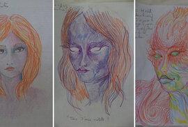 Autoportréty po požití LSD: Jak se změní vnímání vlastní osobnosti