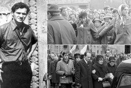 Student Jan Palach se upálil 16. ledna 1969 na Václavském náměstí