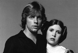 Luke Skywalker a princezna Leia před třiceti lety