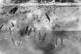 Vylodění v Normandii: hrůza a děs.