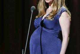 Chelsea v době, kdy byla těhotná s malou Charlotte.
