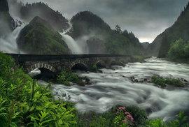 Vodopády Latefossen, Norsko