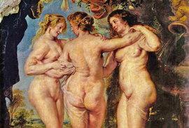 16. - 17. století, Tři grácie od malíře Petera Paula Rubense, který zachytil ideál krásy té doby