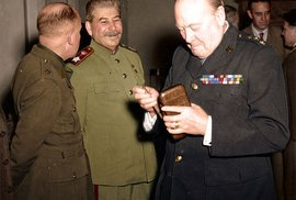 Stalin a Churchill