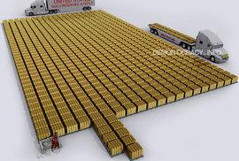 Zlaté rezervy USA - 8 113 tun.