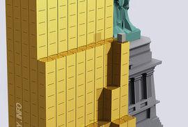 Zde je vše zlato, co kdy bylo vytěženo - 166 500 tun. První patro budovy reprezentuje zlato použité na šperky - 50,5 %. Druhé patro je investiční zlato - 18.7 %, třetí patro jsou zlaté rezervy států - 17.4 % a čtvrté patro je zlato využité v průmyslu - 13.4 %.