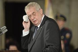 Prezident Zeman v nemocnici: Ve čtvrtek nastoupí na čtyři dny na rekondiční pobyt