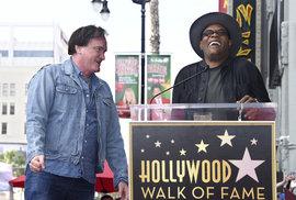 Tarantino má svou hvězdu na chodníku slávy. Ale poslední film na pecku nevypadá