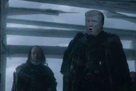 Stop imigrantům, postavit megazeď, obnovit pořádné mučení, hlásá nová hvězda Hry o trůny: Donald Trump