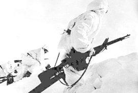 Maskovaní vojáci v zimní válce
