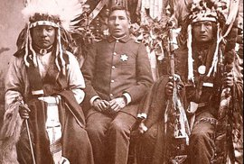 Captain George Sword, Chief of Police, and performers from Buffalo Bill's Wild West show 1882-1891