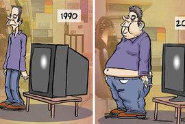 Tak jde čas aneb jak nás mění technologie. 13 trefných karikatur