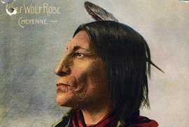 Cheyenne Chief Wolf Robe, 1898