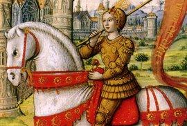 Johanka z Arku na ilustraci z rukopisu z roku 1505