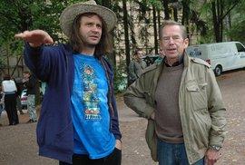 Organizátor trutnovského festivalu Martin Věchet s Václavem Havlem