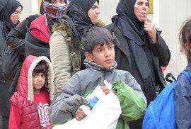 Uprchlíci na rakousko-bavorském přechodu Wegscheid.