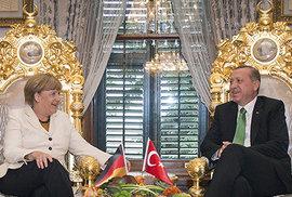 Angela Merkelová a Recep Tayyip Erdoğan