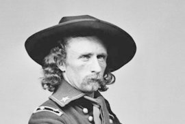 Generál George Armstrong Custer, 1865.