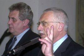 Volební pat. Před 20 lety si Klaus se Zemanem vyzkoušeli opoziční smlouvu nanečisto