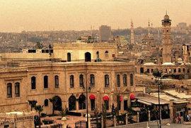 Aleppo před a po válce.