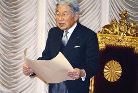 Otřes v Japonsku. Císař Akihito chystá svoji abdikaci