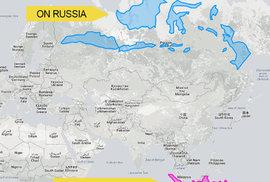 Pokud by Indonésie byla severněji, táhla by se téměř přes celé Rusko