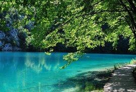 Plitvická jezera v Chorvatsku.
