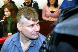 Jiří Kajínek při soudním přelíčení.