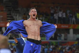 Lukáš Krpálek slaví velké vítězství na olympiádě v Riu