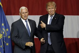 Mike Pence a Donald Trump