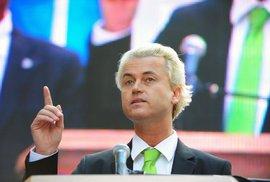 Geert Wilders, předseda nacionalistické Strany pro svobodu.
