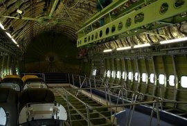 Vnitřek Boeingu 747 v Technickém muzeu ve Špýru. Letadlo bylo darováno společností Lufthansa.
