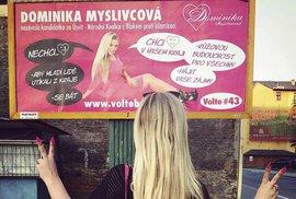 Dominika a její kampaň za růžovou budoucnost.
