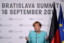 Německá kancléřka Angela Merkelová na summitu v Bratislavě