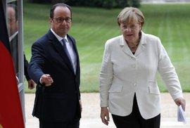 Angela Merkelová a Francois Hollande