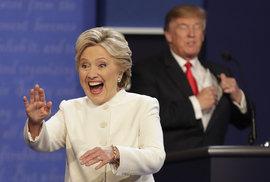 Poslední debata v USA: Trump se zlepšil, Clintonová působila jako Bohuslav Sobotka