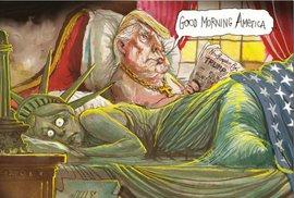 10 obrázků, které si Trump za rámeček nedá. Karikaturisté z celého světa reagují na jeho zvolení