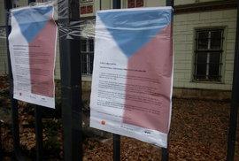 OBRAZEM: Oslavy 17. listopadu v Praze. Na Albertov mezi studenty dorazil i Horáček