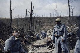 První světová válka v barvě. Unikátní kolorované fotky přibližují drsný život na frontě