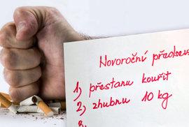 Cigaretový koncern lobbuje za zrušení Nového roku. Na začátku roku mu vždy klesají tržby. Posilovny jsou proti