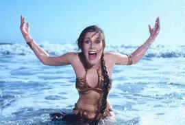 Přestože se zlaté bikiny objevily jen ve dvou scénách, staly se jedním ze symbolů celých Hvězdných válek. Carrie Fisher si je proto oblékla po natáčení ještě jednou, při dávno zapomenutém focení pro časopis Rolling Stone.