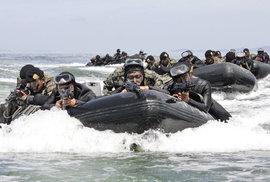 Trénink jihokorejských speciálních jednotek