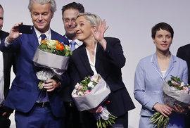 Špičky evropské krajní pravice se sešli na konferenci v německé Koblenci