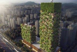 Projekt vertikálního lesa v Nankingu vytvořil italský architekt Stefano Boeri